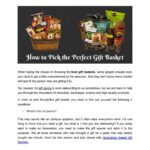 How to Pick the Perfect Gift Basket